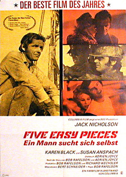 5 easy pieces Jack Nicholson vintage movie poster