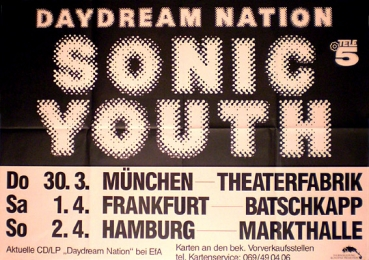 Sonic Youth Daydream Nation Tour  1988
