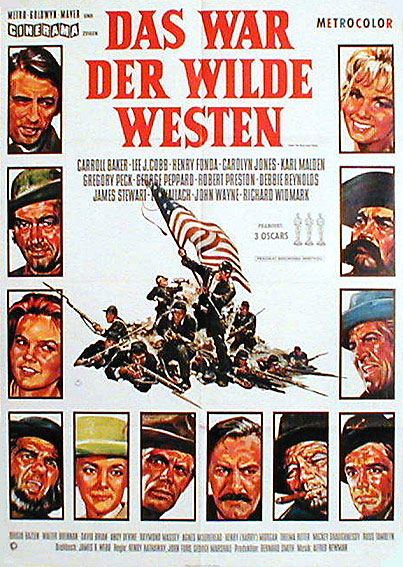 How the west was won vintage movie poster